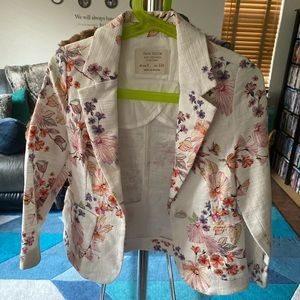Zara girls flower blazer